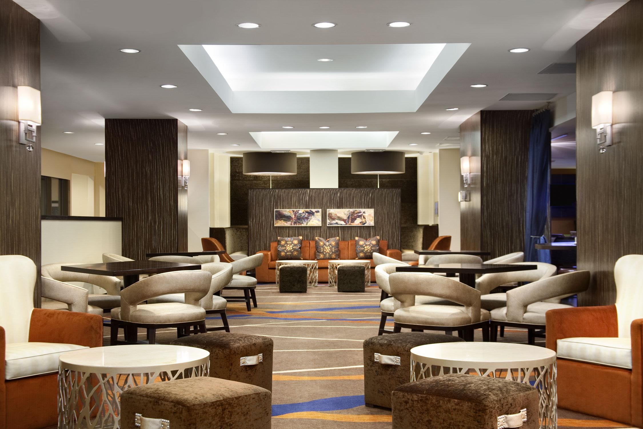 Lobby area of Hilton JFK Airporty