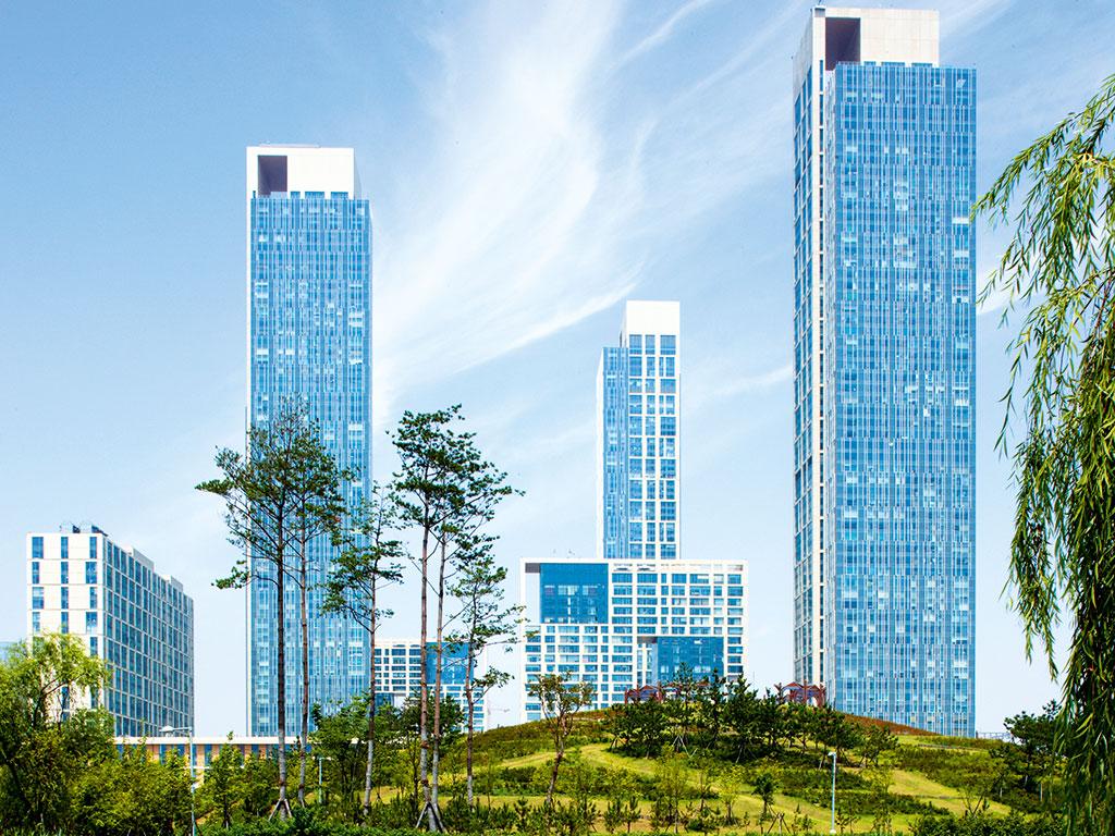 Songdo is a global business hub