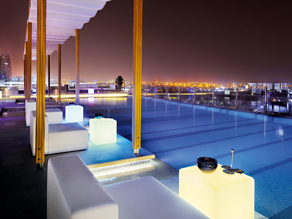 Rooftop view Radisson Royal Hotel Dubai