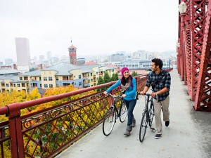 Portland is the only large US city of earn Platinum status from the League of American Bicyclists