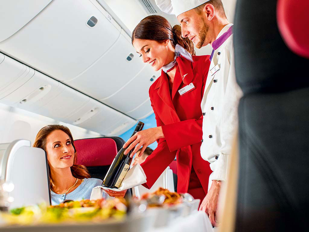 Austrian Airlines Deluxe Business Class Service
