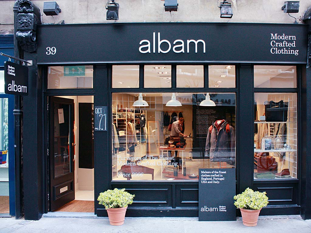 Albam store Covent Garden