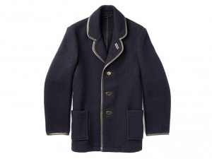 Felted wool coat by YMC, in collaboration with Gloverall, £395