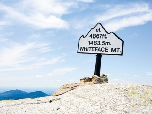 A sign for New York's Whiteface Mountain