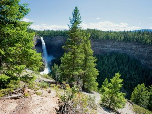 A view from the top: Canada's Helmcken Falls Spray Cave