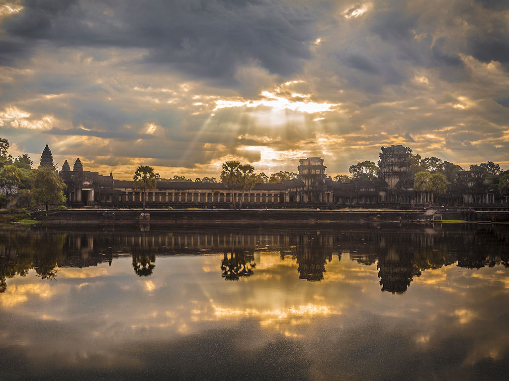 UNESCO World Heritage site Angkor Wat at sunrise