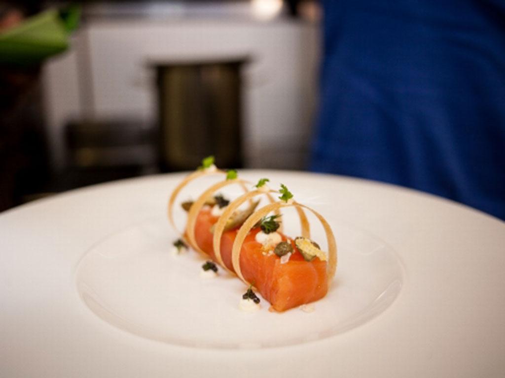 Salmon at Restorāns Vincents