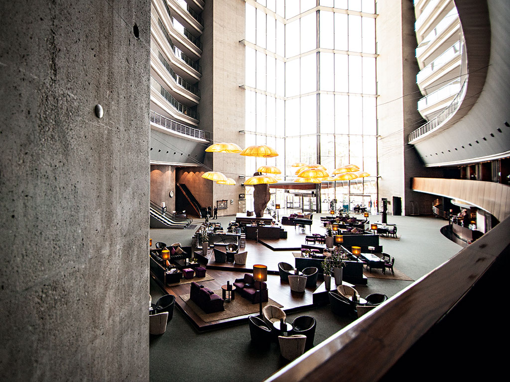 Inside the Hotel Rey Juan Carlos I: the hotel offers jaw-dropping architecture and close proximity to Barcelona's commercial hubs