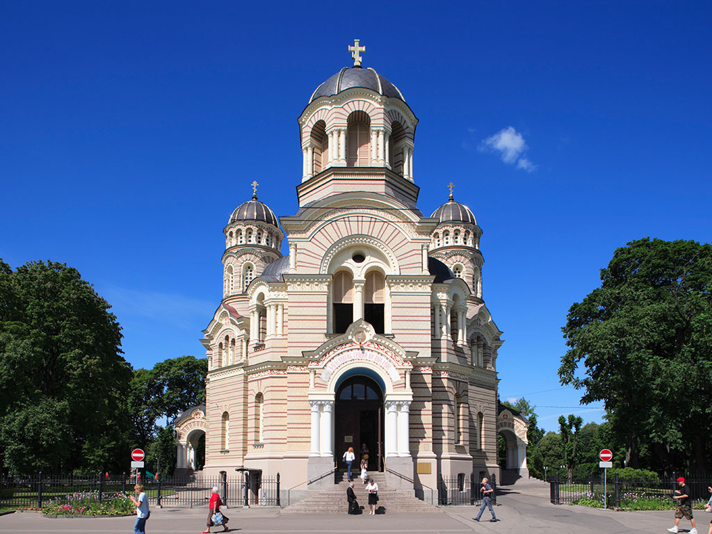 A Russian Orthodox Cathedral in Riga