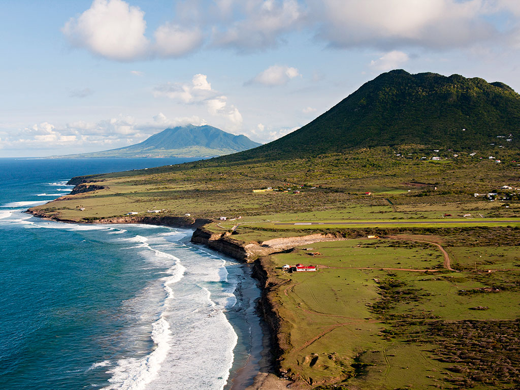 The Caribbean island of St Eustatius offers unspoiled landscapes and peaceful beaches. Credit: Cees Timmers