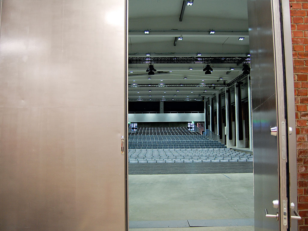 The 800-seat Avanti Hall, one of the Art Factory's main event halls