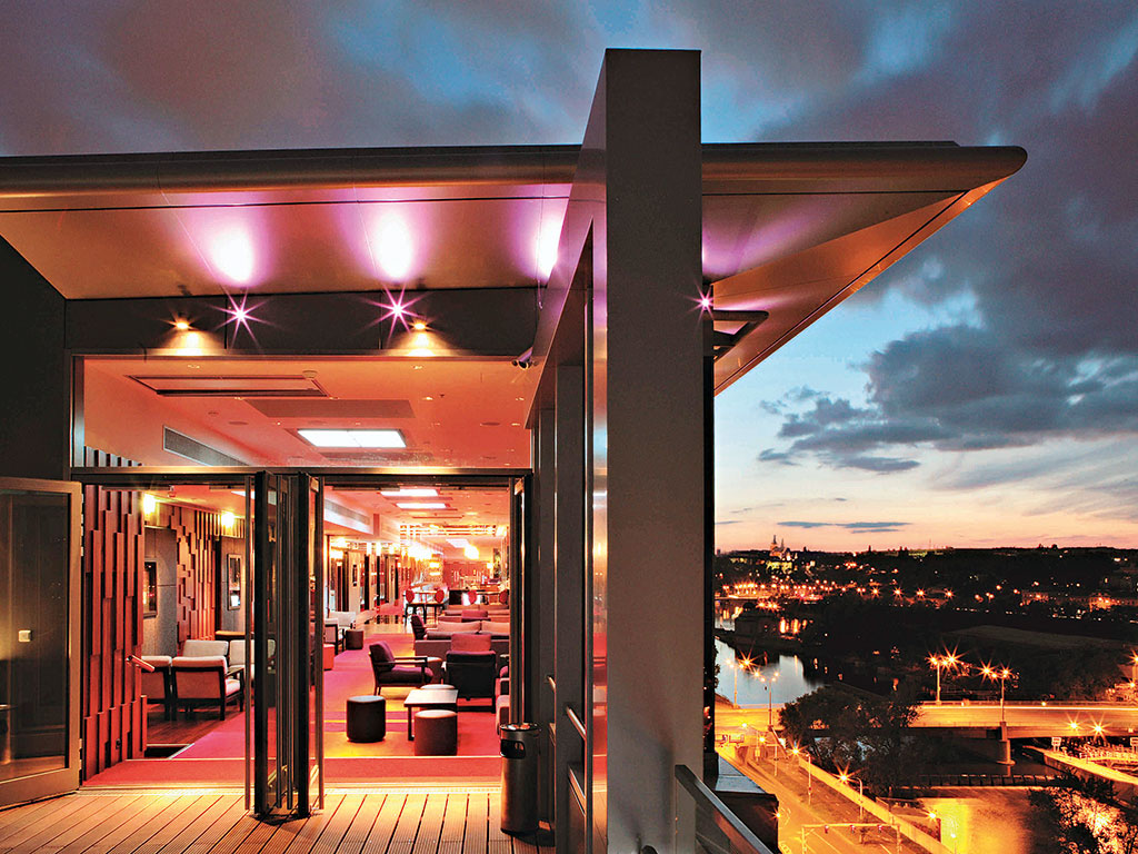The Sky Bar in the Hilton Prague