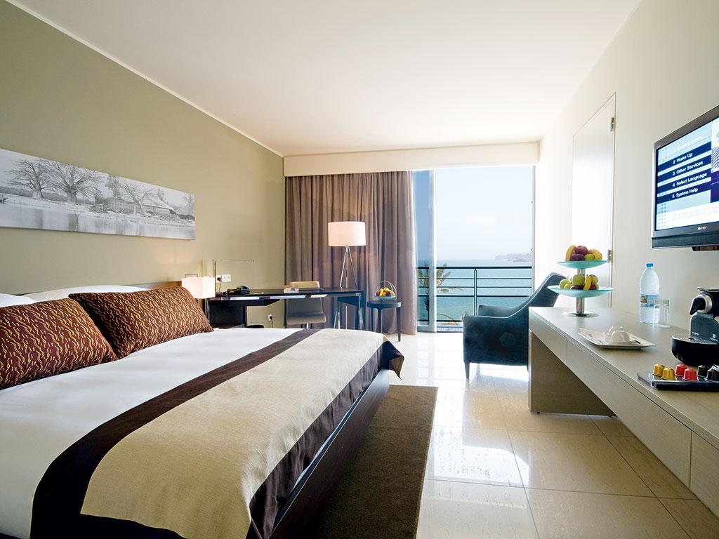 Business focused guest room at Radisson Blu Hotel, Dakar