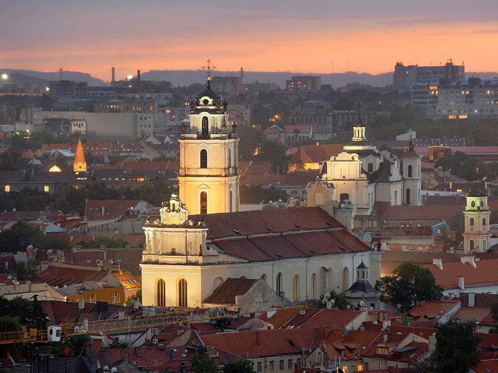 St John's Church in Vilnius, Lithuania