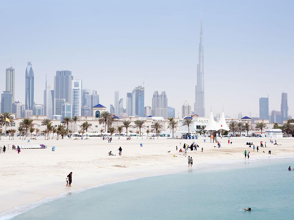 Beach life in Dubai
