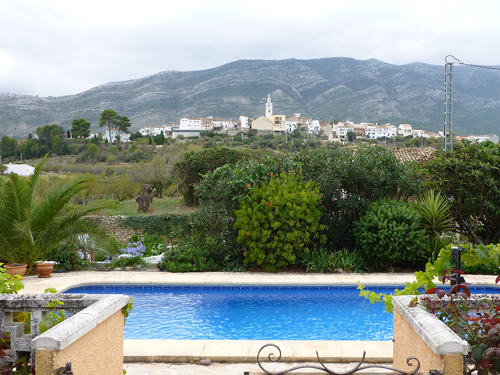 A house with a view: Helen Taylor and Trevor Evan's Spanish property offers stunning scenery, and came at a very affordable price thanks to advantageous exchange rates