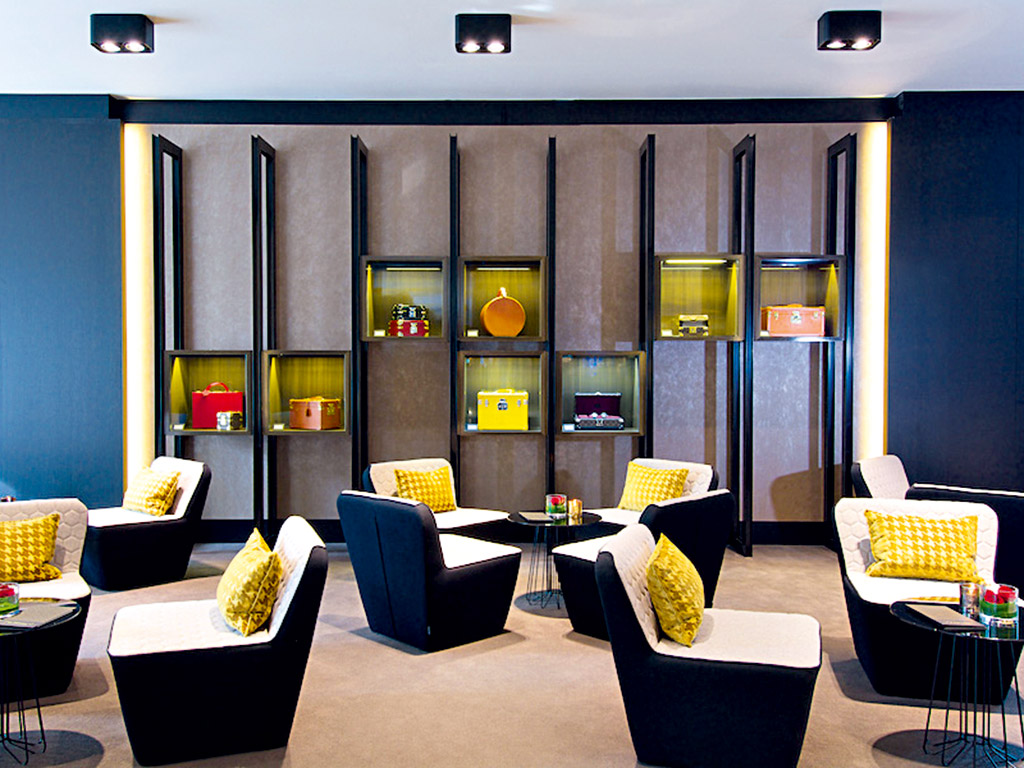 The Hotel is a cultural hub, with haute couture fashion showcases in the lobby