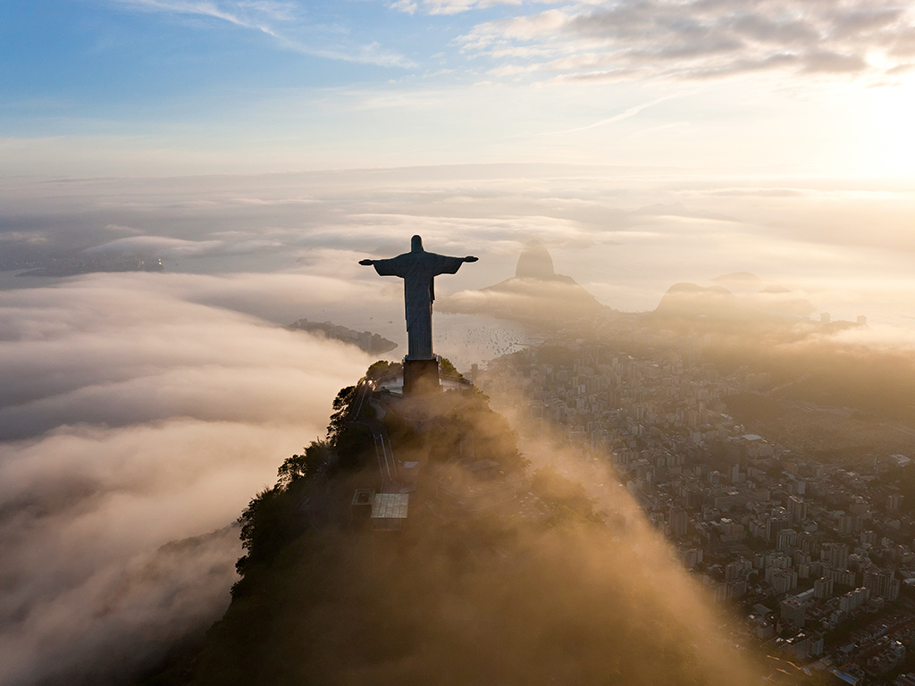 Comments An Aerial View Of Christ The Redeemer Rio De Janeiro Brazil Hosts A Whole
