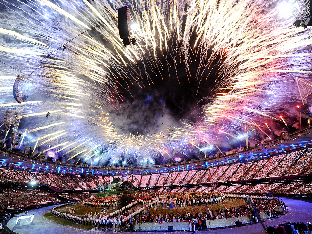The opening ceremony of the London Olympics 2012. While some games prove worthwhile financially for countries, others struggle to recover from the staggering expenses incurred