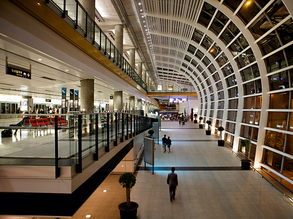 While long-haul travel can be tiresome, passengers are now spoilt for choice when it comes to stopover destinations, with airports such as Hong Kong International (pictured) offering a wealth of entertainment, restaurants and outlets to explore