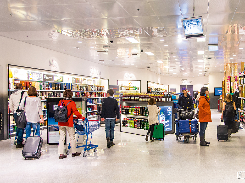 Customers explore Duty Free Iceland