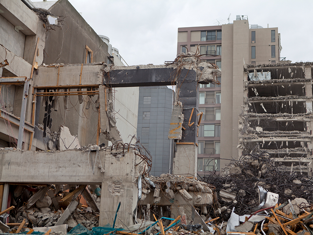 The wreckage from 2011's earthquake in Christchurch
