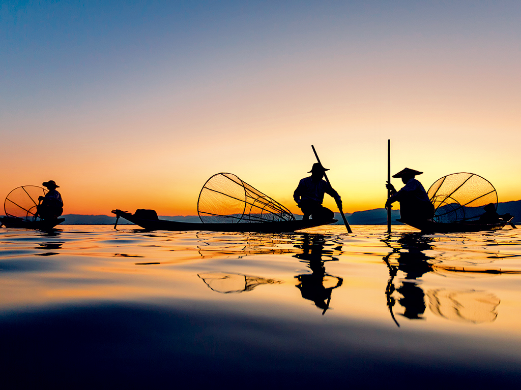 Intha Fishing at Inle Lake, Myanmar