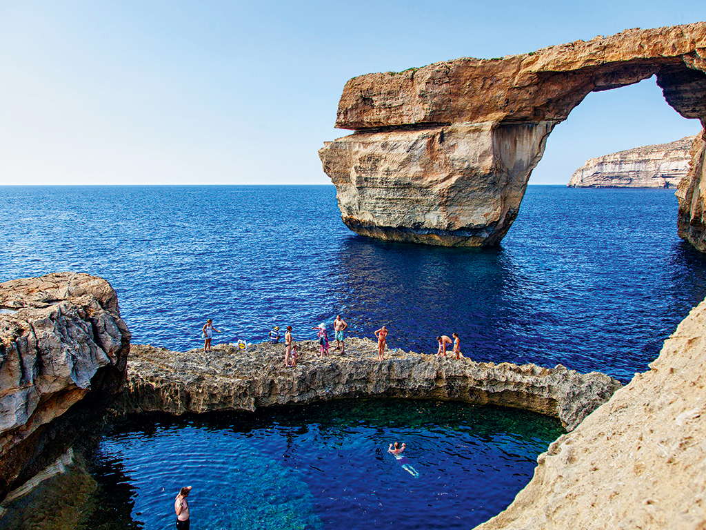 The Azure Window and the Blue Hole, Dwerja (photo by Therese Debono). The stunning scenery provided the backdrop to television series including Game of Thrones
