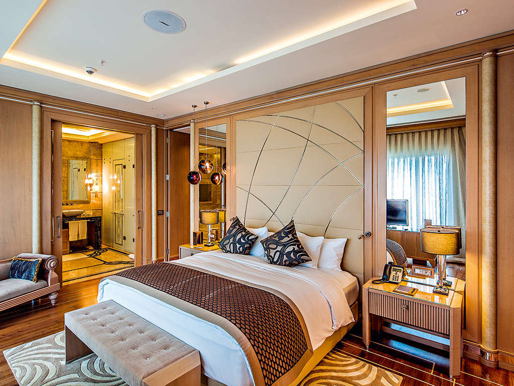 One of the hotel suites at the Hilton Bursa Convention Centre and Spa. The hotel offers a luxurious stay in one of the world's most fascinating cities