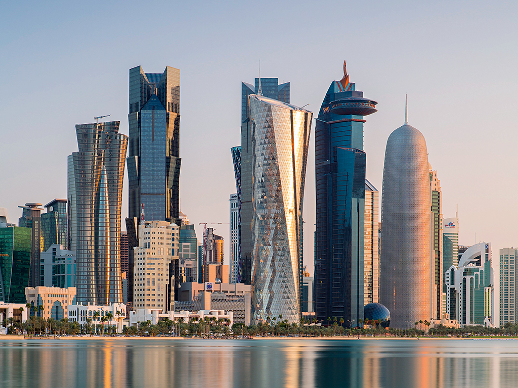 The West Bay central financial district of Doha, Qatar. The country has become a top destination for meetings, incentives, conferences and exhibitions