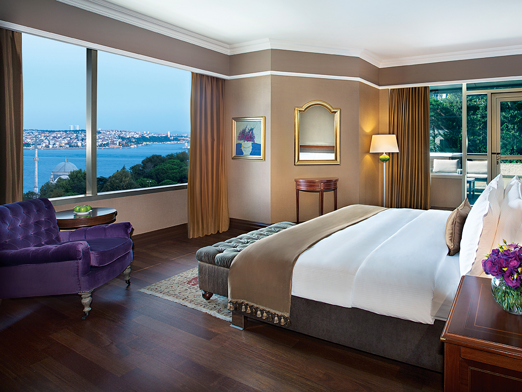 Luxury and style are evident throughout the Presidential Suite at The Ritz-Carlton, Istanbul. The hotel is renowned for its world-class hospitality and facilities