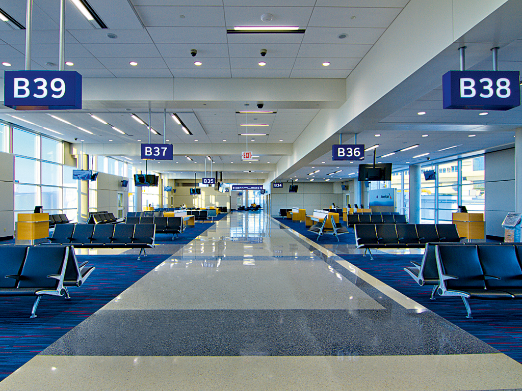 Four of the airport's passenger terminals are currently undergoing redevelopment
