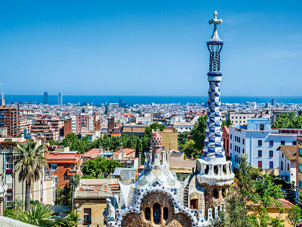 Gaudi's famous Park Güell (pictured) is one of the largest tourist attractions in the city of Barcelona