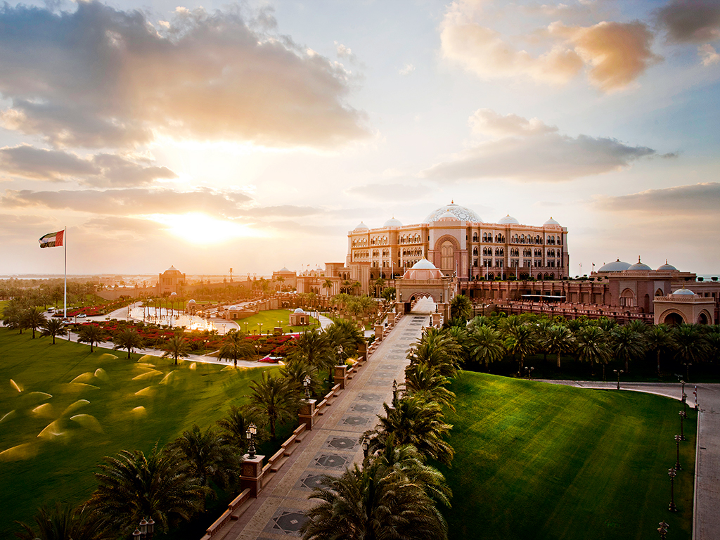 Emirates Palace is built on 85 hectares of landscaped lawns. The hotel is run by Kempinski Hotels, which manages an extensive portfolio of properties in Europe, the Middle East, Africa and Asia