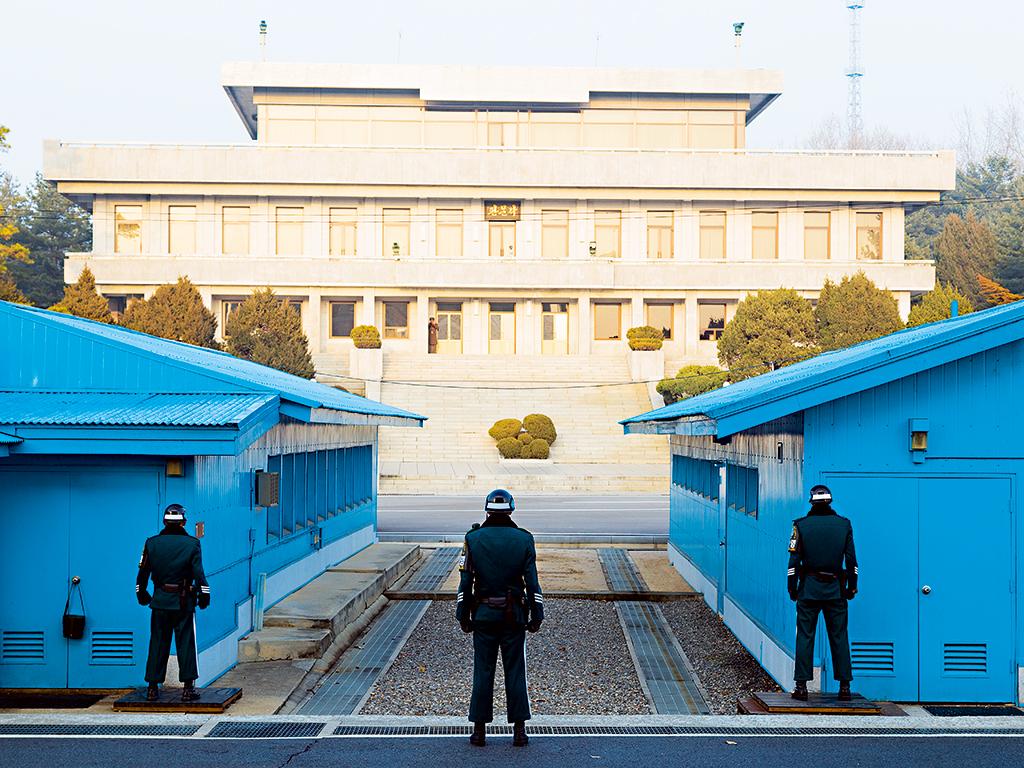 Border guards in the Korean Demilitarised Zone (DMZ)
