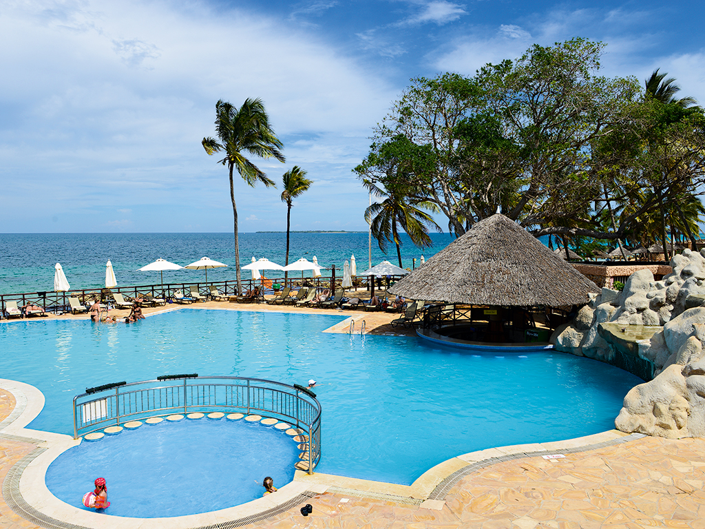 Ledger Plaza Bahari Beach Hotel offers outstanding views over East Africa and deluxe facilities