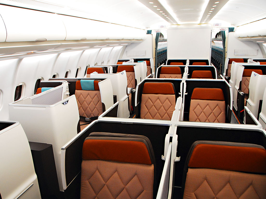 The airline's long haul business-class cabin