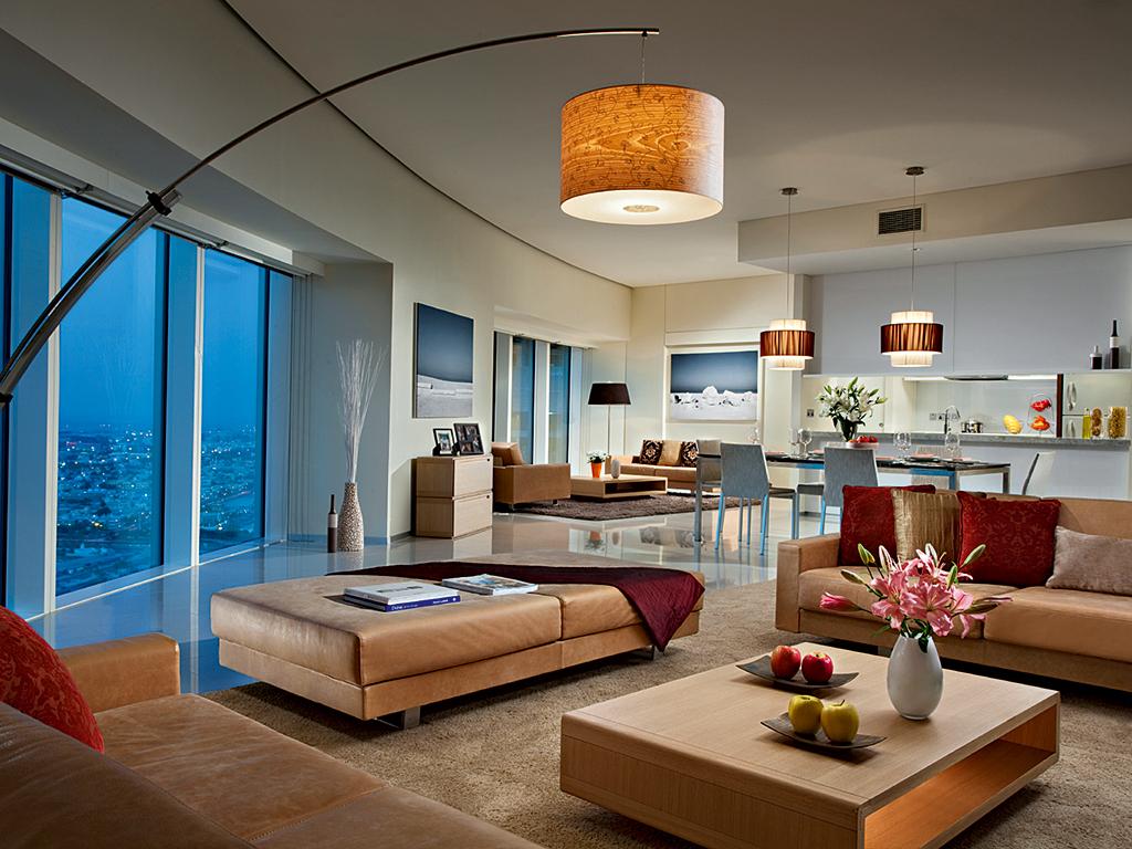 The two-bedroom Premier Suite at Ascott Park Place, Dubai