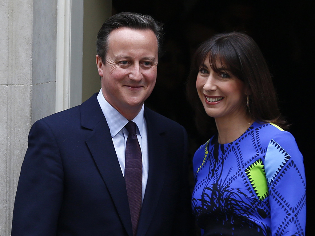 David and Samantha Cameron re-enter 10 Downing Street after the outcome of the 2015 general election. Any political event like this is likely to have a dramatic impact on currency markets