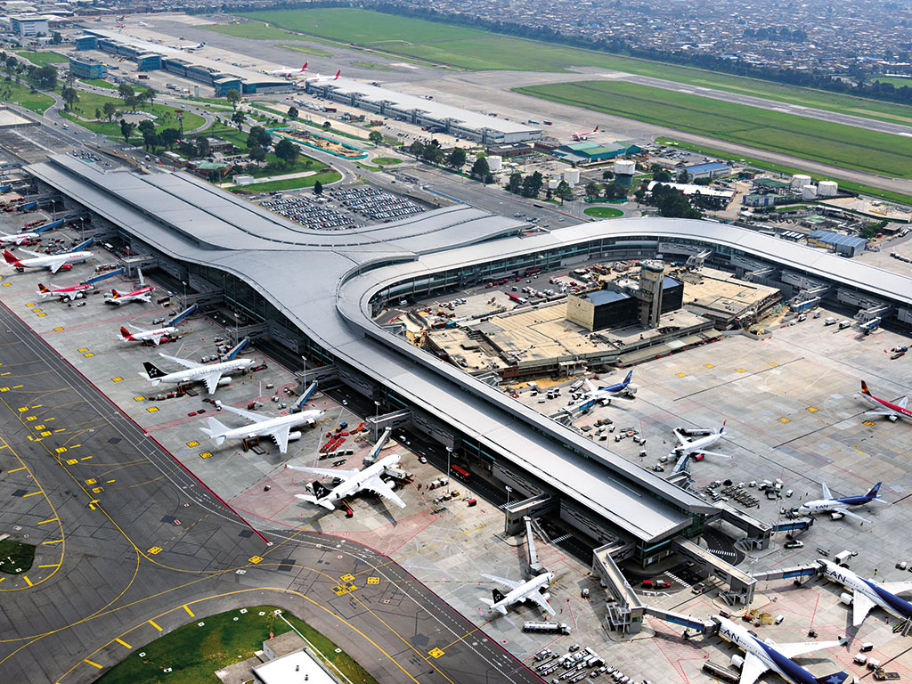 El Dorado International Airport, which is based in Colombia. After a $1.2bn investment, the airport is being completely renovated and modernised