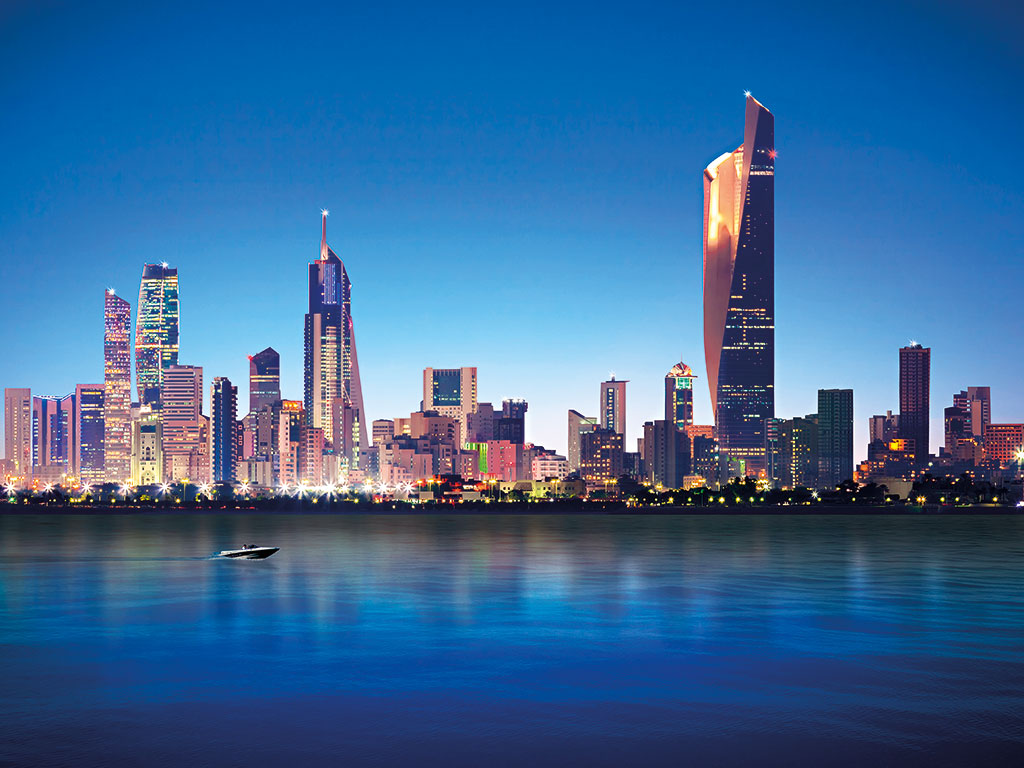 The skyline of Kuwait City, GCC. Alshamel Travel has seen tourism in the region grow rapidly as a result of advances in IT and telecommunications