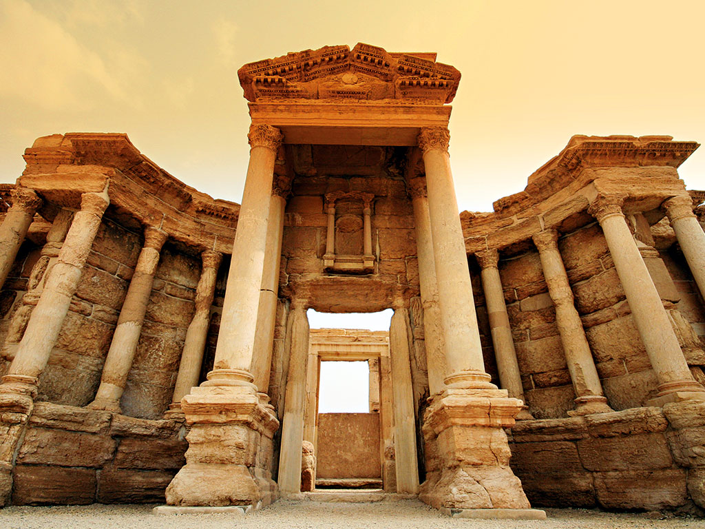 The ancient city of Palmyra, much of which was destroyed by ISIS in 2015