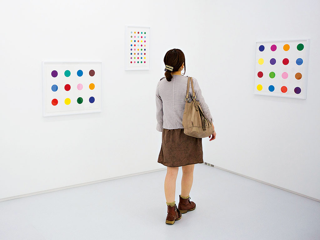 Damien Hirst's New Spot Prints on display at the Tomio Koyama Gallery, Tokyo