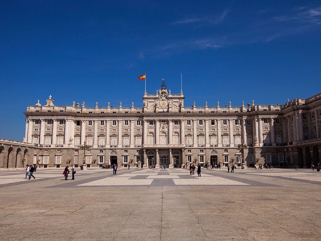 The Royal Palace of Madrid, which is the largest of its kind in Europe