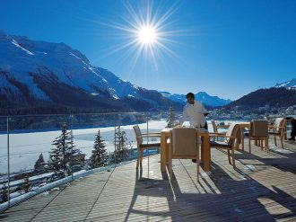 The luxurious Carlton Hotel can be found nestled in the Swiss Alps, in the very heart of St Moritz, one of the world's most celebrated skiing destinations
