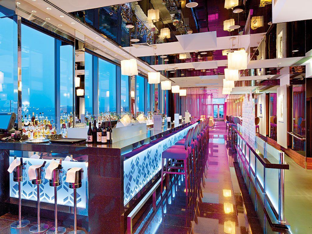 Located 40m above the stunning Vltava River, the Hilton Prague's Cloud 9 Sky Bar and Lounge is Prague's first true sky bar