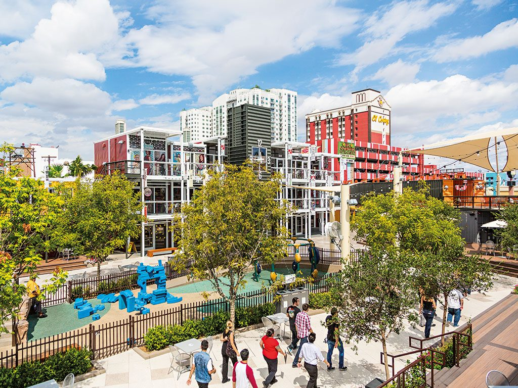 Container Park, in Downtown Las Vegas