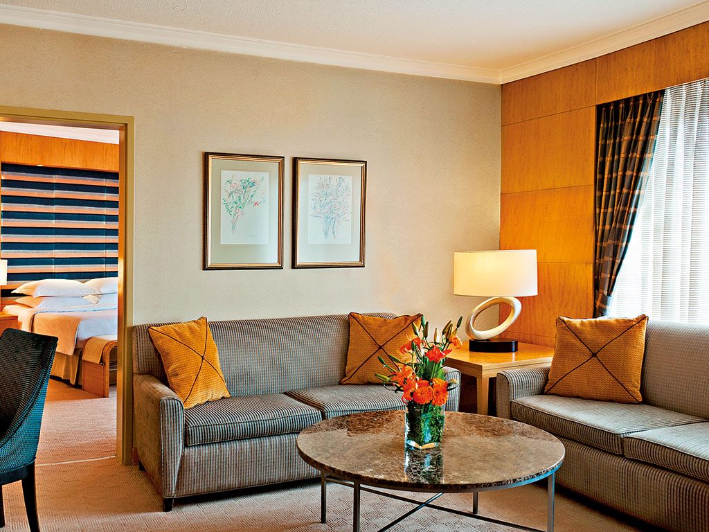 The Sheraton Ankara's rooms provide luxurious amenities while still retaining a traditional Turkish style