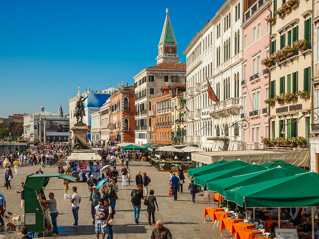 Venice is one of the world's most walkable cities, with its network of narrow, cobbled streets offering endless places for travellers to explore