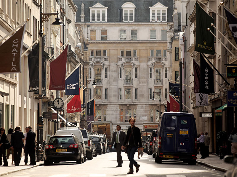 New Bond Street, London. In spite of a series of recent terror attacks, tourism in the UK is on the rise, largely thanks to a weak pound following the country's Brexit vote